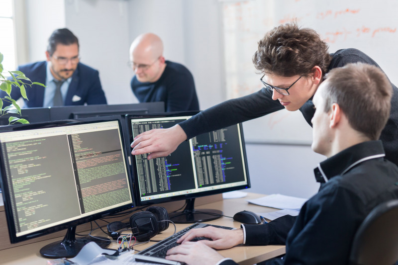 Image showing programmers in the development phase