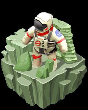 RoboGarden的月球世界向学生介绍太空,在那里他们可以体验从发射火箭所需的复杂计算到在航天飞机内保持适当的速度和重量比的挑战。学生将被介绍宇航员在旅途中使用的不同工具和设备。